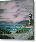 Seascape Lighthouse Metal Print