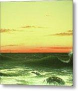 Seascape Sunset 1861 Metal Print