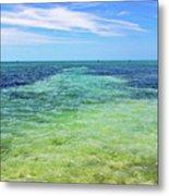 Seascape - The Colors Of Key West Metal Print