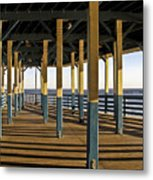 Seascape Walk On The Pier Metal Print