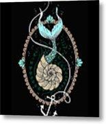 Seashell Mermaid Metal Print