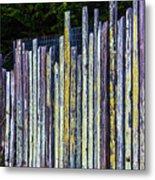 Seashore Fence Metal Print