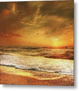 Seashore Sunset Metal Print