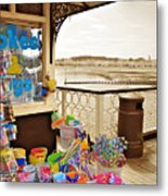 Seaside Buckets And Spades For Sale On Llandudno Pier Metal Print