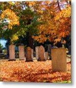 Seaside Cemetery Metal Print