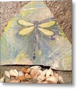 Seaside Dragonfly Metal Print