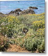 Seaside Flowers Metal Print