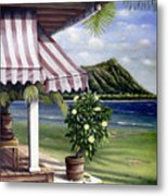Seaside Hotel Metal Print