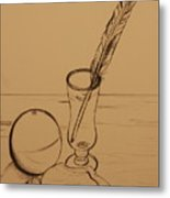 Seaside Objects Metal Print