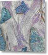 Seaside Rocks And Garnet Sand Metal Print