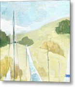Seaside Sails Metal Print