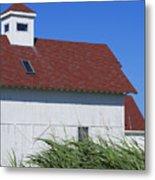 Seaside Schoolhouse Metal Print