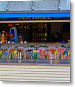 Seaside Shellfish Snack Shack Metal Print