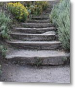 Seaside Steps Metal Print