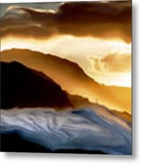Seaside Storm Metal Print