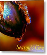 Season's Greetings- Iced Light Metal Print