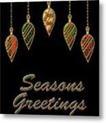 Seasons Greetings Merry Christmas Metal Print