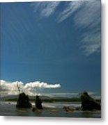 Seastacks And Clouds Metal Print