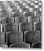 Seat Backs Metal Print