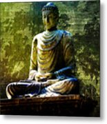 Seated Buddha Metal Print