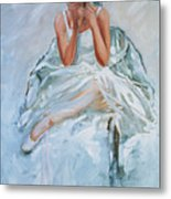 Seated Dancer Metal Print