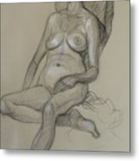 Seated Nude 5 Metal Print