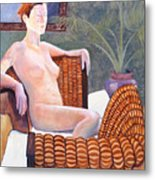 Seated Nude Metal Print by Don Perino