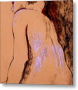 Seated Nude Metal Print