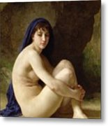 Seated Nude Metal Print by William Adolphe Bouguereau