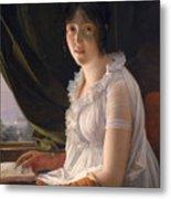 Seated Portrait Of Marie Philippe Claude Walbonne Metal Print