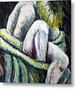 Seated Woman Abstract Metal Print