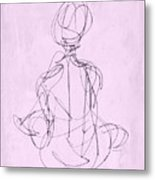 Seated Woman Metal Print