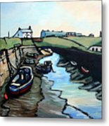 Seaton Sluice Harbour Metal Print
