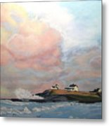 Seaton Sluice. Metal Print