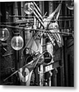 Seattle Alley In Black And White Metal Print