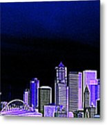 Seattle Blue 2 Metal Print