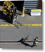 Seattle Dog On The Pier  Metal Print