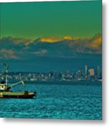 Seattle Evening Metal Print