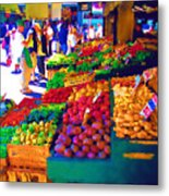 Seattle Farmers Market 2 Metal Print