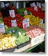 Seattle Farmers Market Metal Print