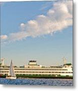 Seattle Ferry Boat Metal Print