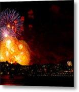 Seattle Fireworks Metal Print