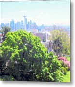 Seattle From A Hill Metal Print