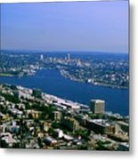 Seattle From Space Needle Metal Print
