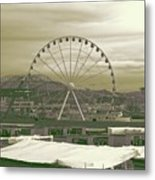Seattle Great Wheel And Pier 57 Metal Print