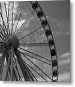 Seattle Great Wheel Metal Print