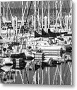 Seattle Marina Metal Print
