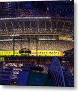 Seattle Mariners Safeco Field Night Game Metal Print