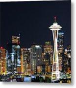 Seattle Night Sky Metal Print