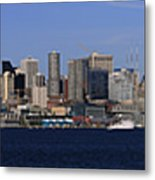 Seattle Panoramic Metal Print